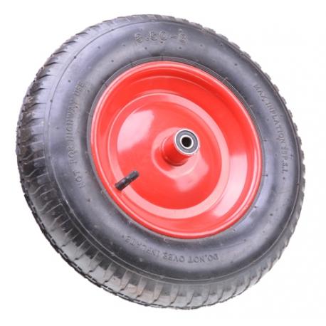 Schubkarrenrad 3,50-8 Metallfelge Luft-Reifen Schubkarre Ersatz-Rad Ø 375mm