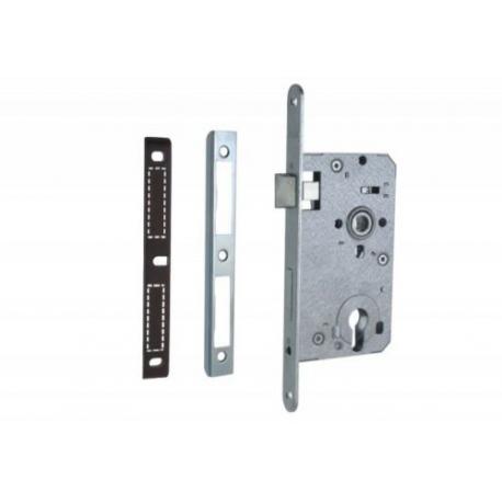 Zimmertür-Einsteckschloss 72 / 55mm Profilzylinder PZ