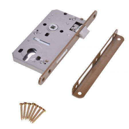 Zimmertür-Einsteckschloss 60 / 50mm Profilzylinder PZ