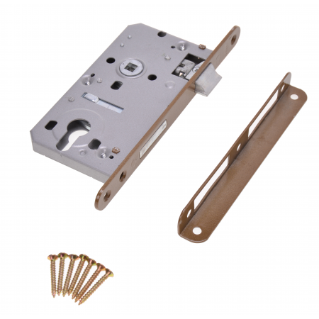 Zimmertür-Einsteckschloss 72 / 60mm Profilzylinder PZ
